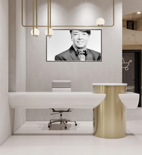 Белый, золотой, зеркальный – вечные тренды в интерьере башни Валентина Юдашкина